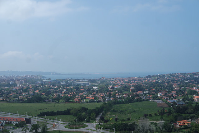 Vistas de Gijón desde la torre