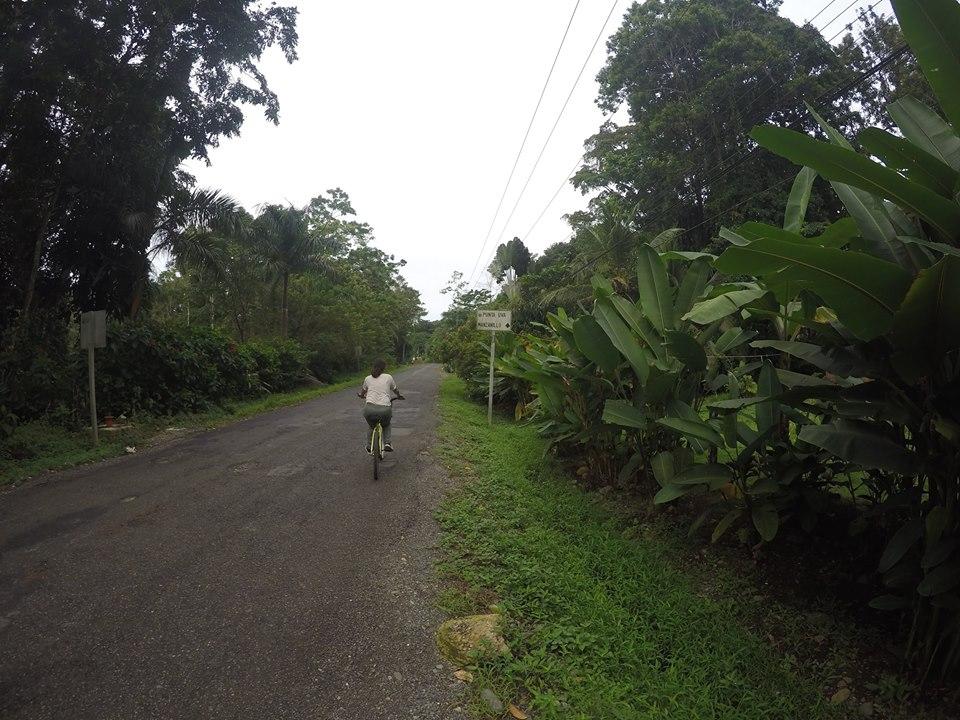 EN bici de Puerto Viejo a Manzanillo