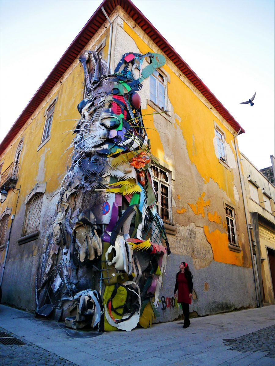 Half Rabbit de Bordalo, arte urbano en Oporto