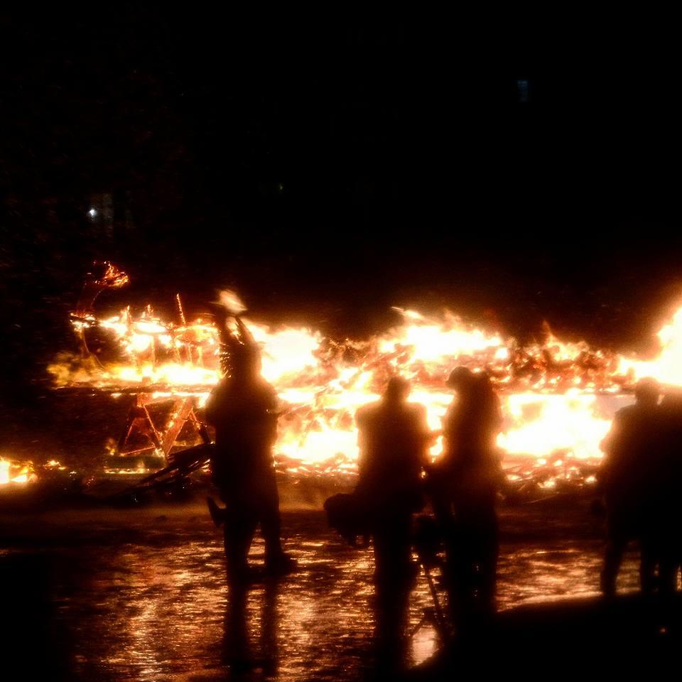 Barco en llamas, Up Helly Aa