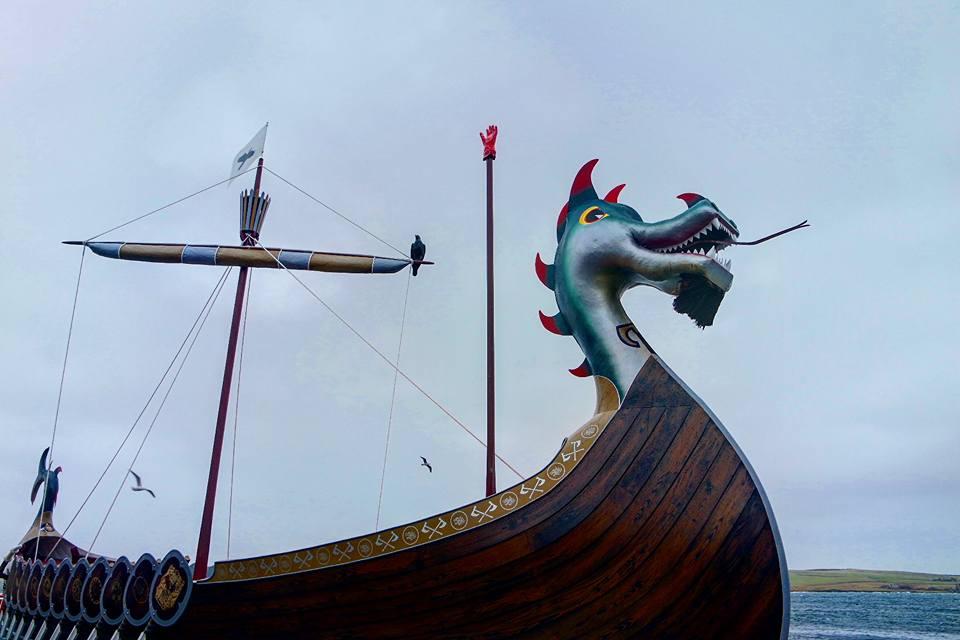 Barco vikingo, Lerwick, Up Helly Aa