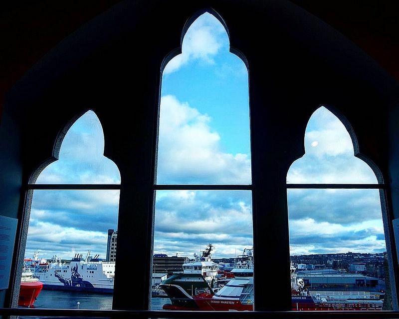 Puerto de Aberdeen desde el Museo Marítimo