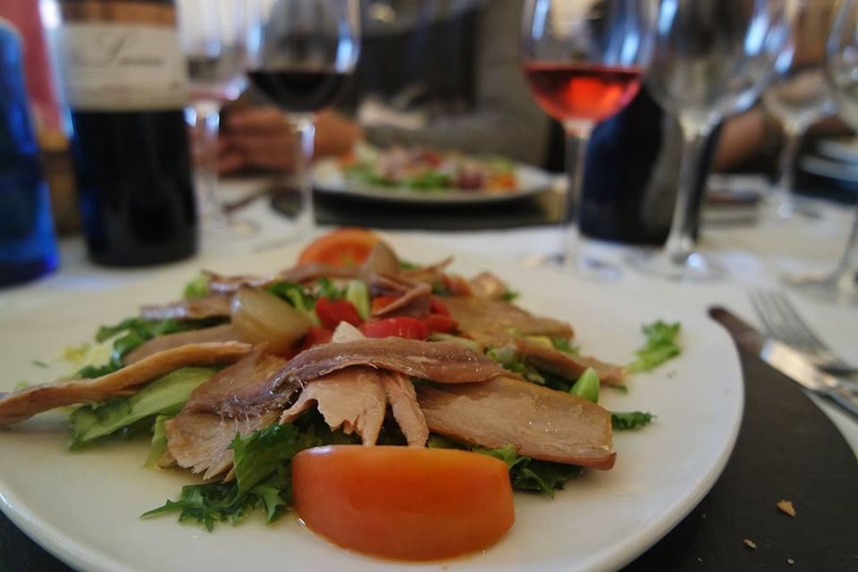 Almuerzo en Dueñas, Caminos de vino
