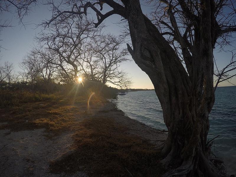 Atardecer en isla Grande, islas del Rosario