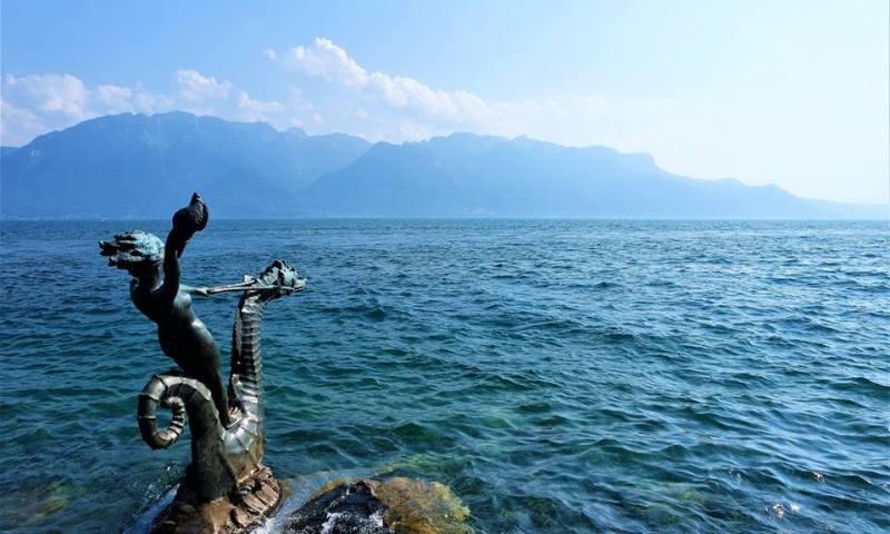 Ruta de seis días por Suiza, lago Lemán