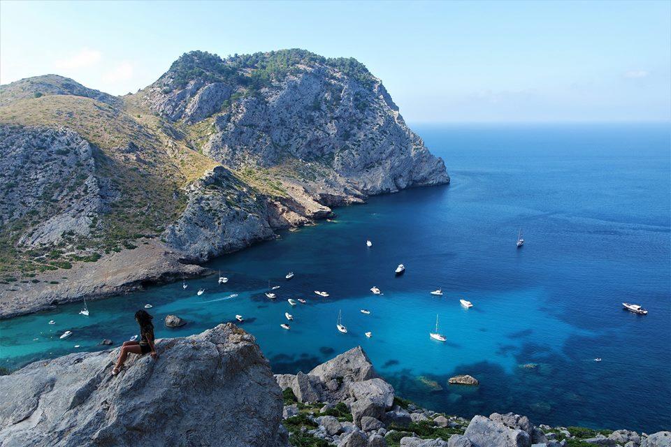 Cala Figuera, Cap de Formentor, Mallorca en coche