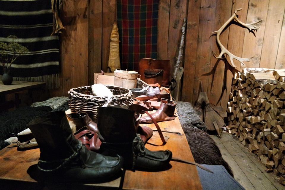 Casa comunal del museo vikingo de las islas Lofoten