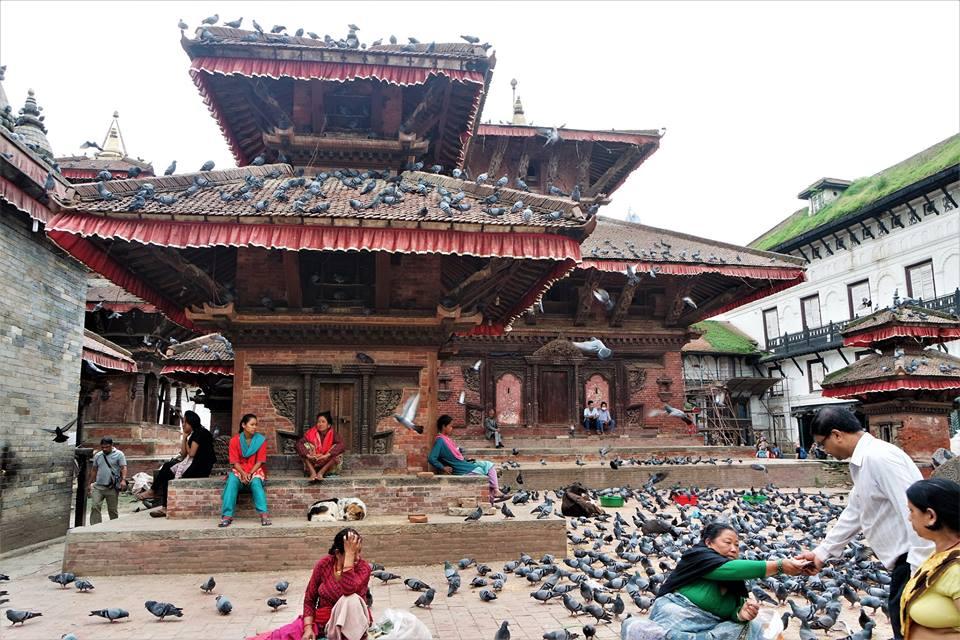 Plaza Durbar Katmandú, Nepal después del terremoto