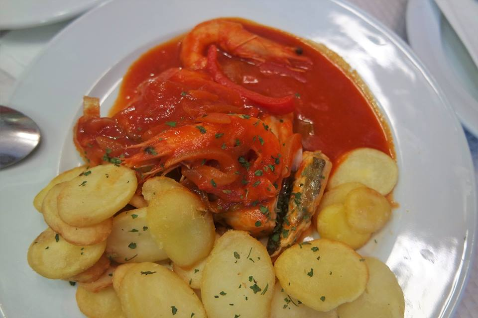 Bacalao con tomate, Sintra