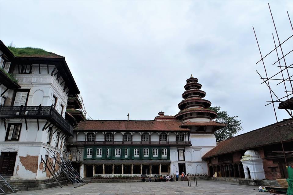 Edificios, plaza Durbar de Katmandú