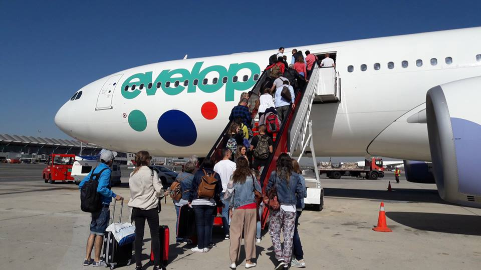Embarcando en Evelop rumbo a Cancún