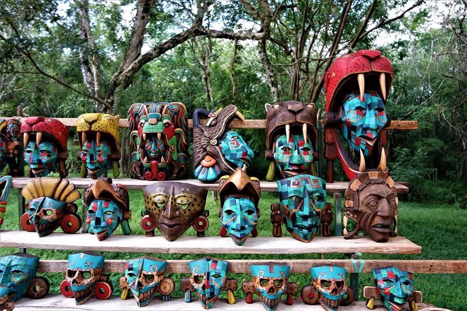Máscaras en Chichén-Itzá