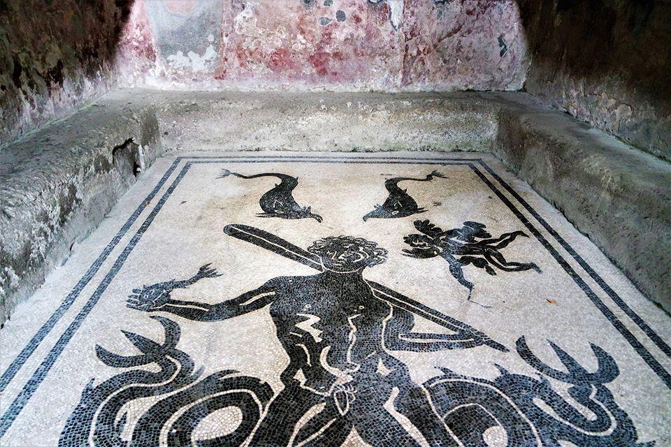 Mosaico de Hércules, termas de Herculano
