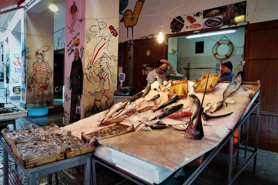 Pescadería, mercado de La Vucciria