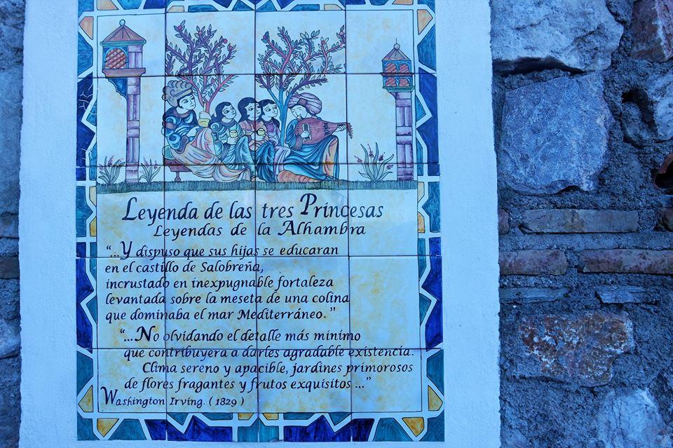 Leyenda de las tres princesas, Salobreña