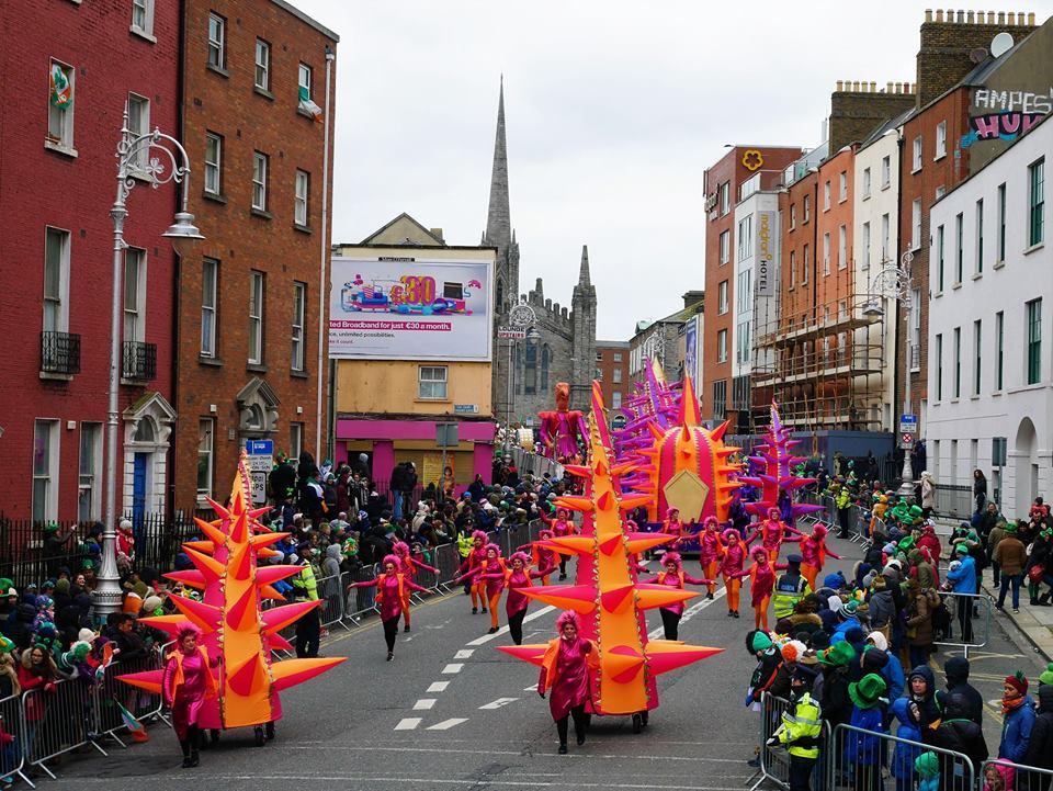 Colores en el desfile de San Patricio
