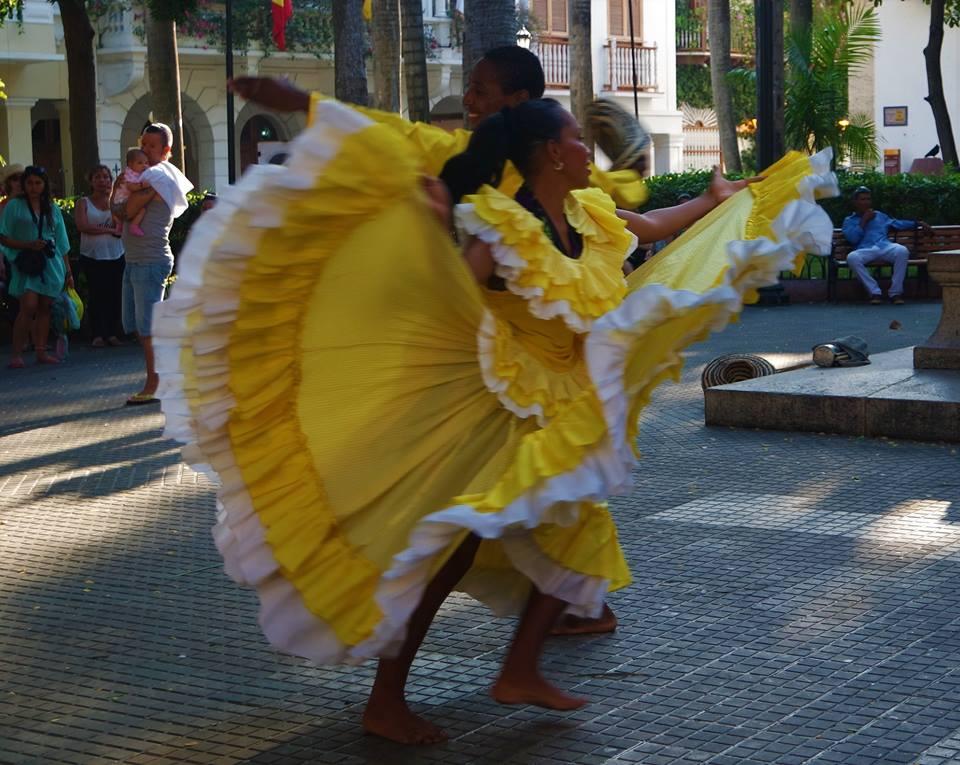 Bailarina en Cartagena de Indias