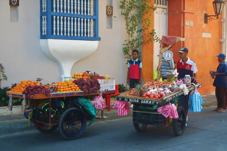 Puestos de fruta en Colombia