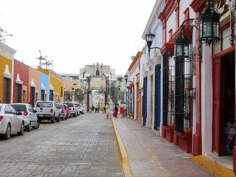 Calles y muralla de Campeche