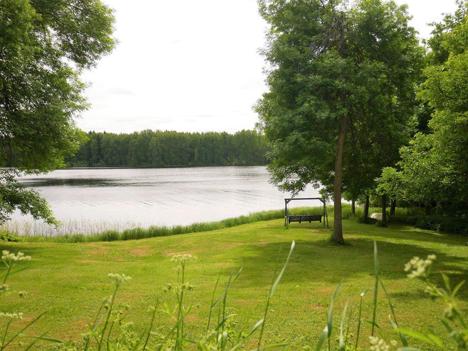 Columpio en los lagos de Finlandia