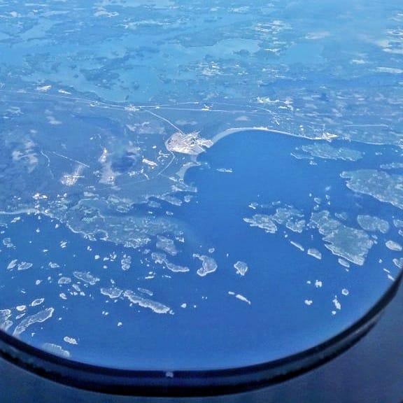 Vistas de Finlandia desde el avión de Finnair Madrid - Helsinki