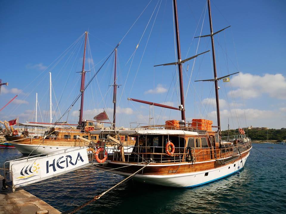 Muelle de Sliema, barcos a Gozo y Comino