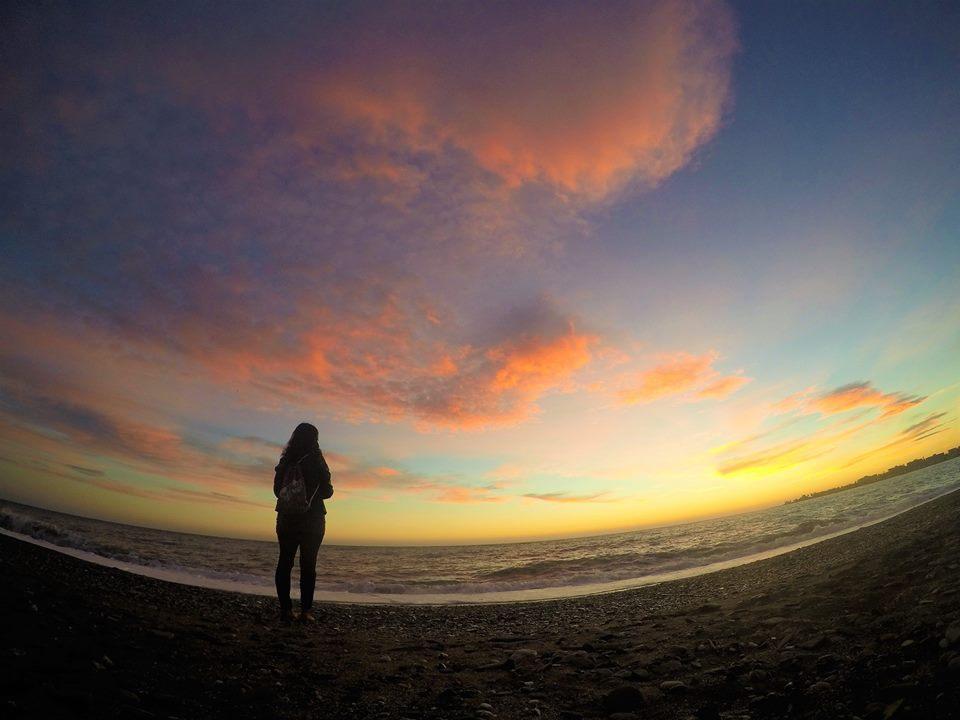 Atardecer en la playa de Poniente