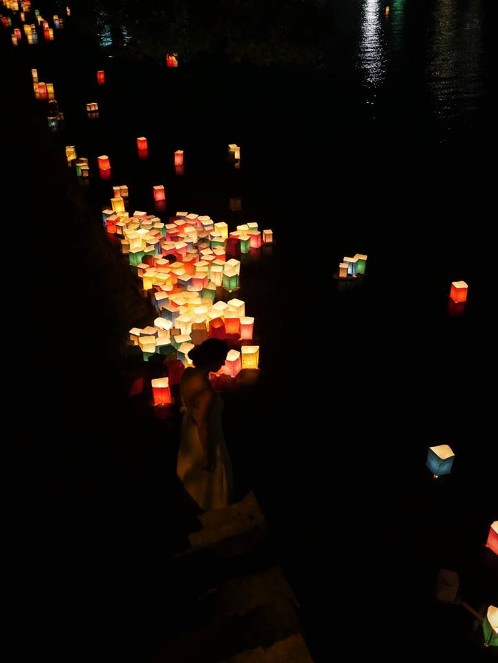 Lámparas de luz en Hiroshima