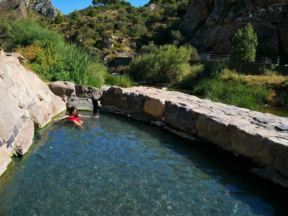 Baño en las termas de Arnedillo