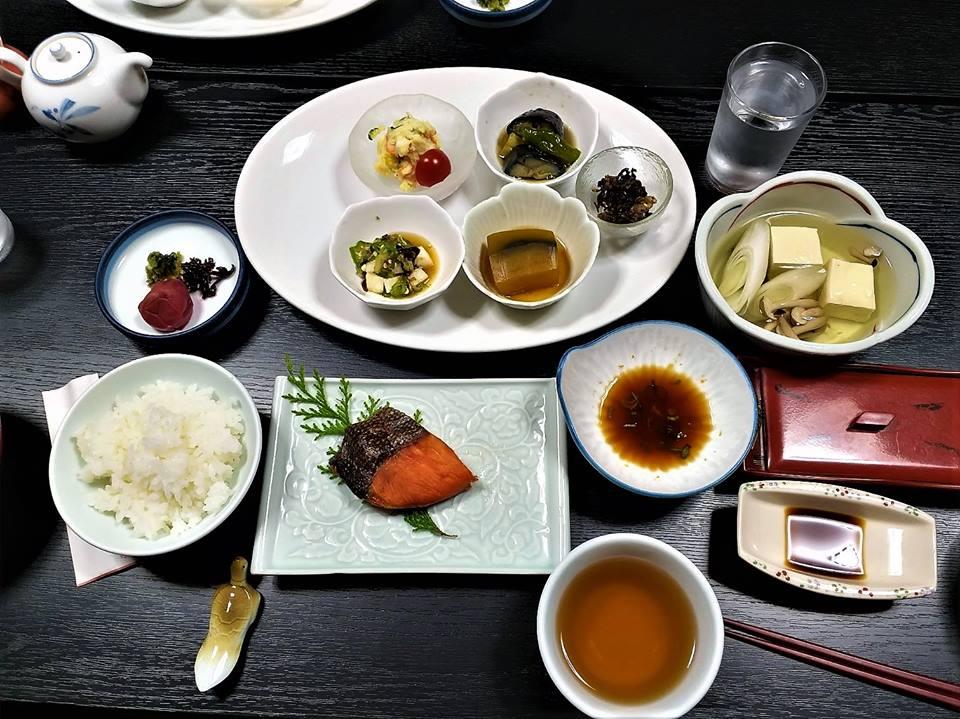 Desayuno en un ryokan