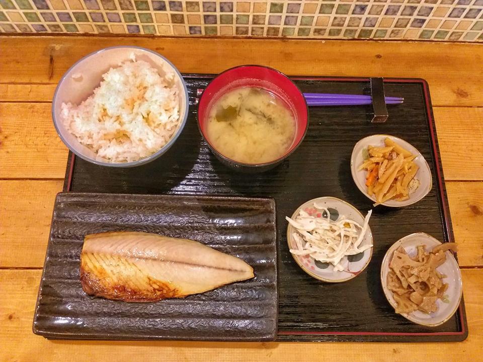 Desayuno típico japonés