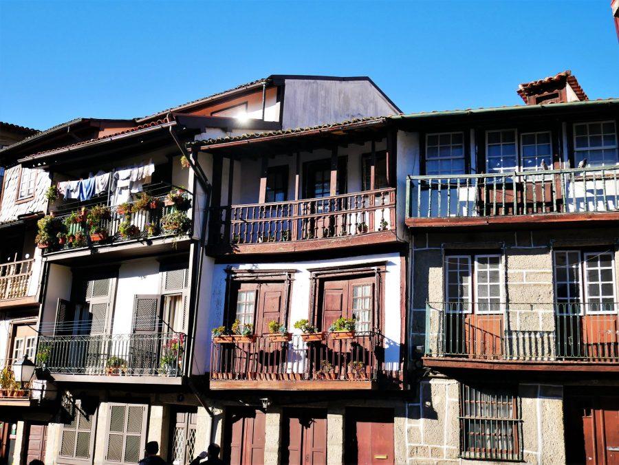 Balcones típicos de Guimaraes