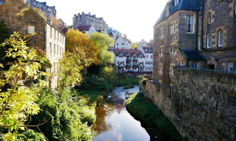 Dean Village qué ver en Edimburgo en 2 días, Escocia