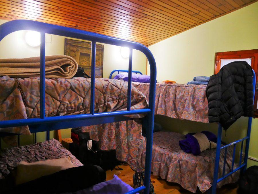 Habitación del albergue de Puente Duero