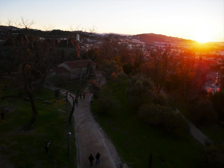 Puesta de sol en Guimaraes