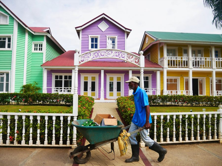 Casas de colores de Samaná, República Dominicana
