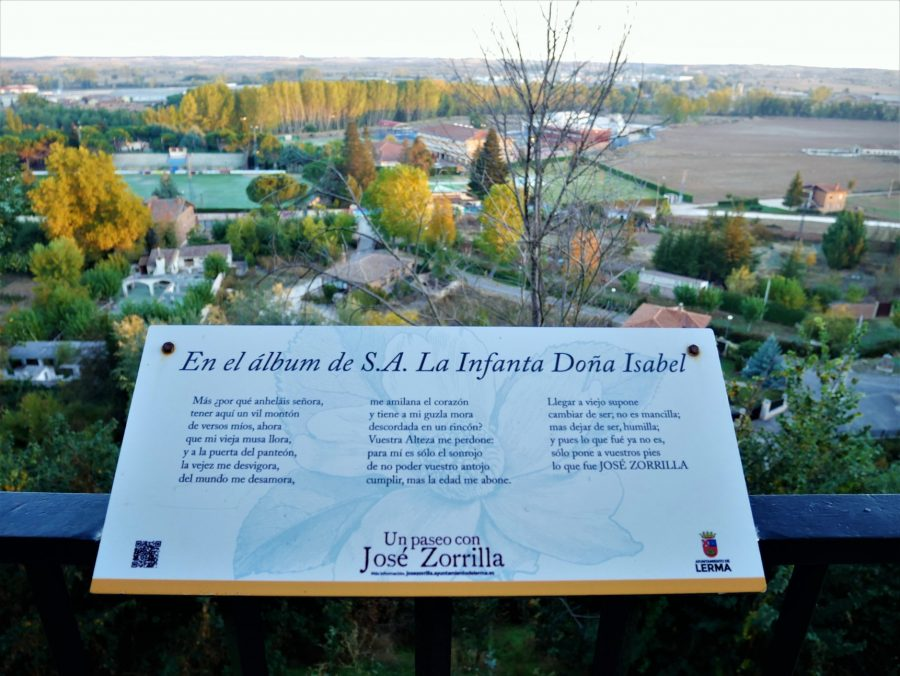 Poemas de Zorrilla en el Mirador de los Arcos