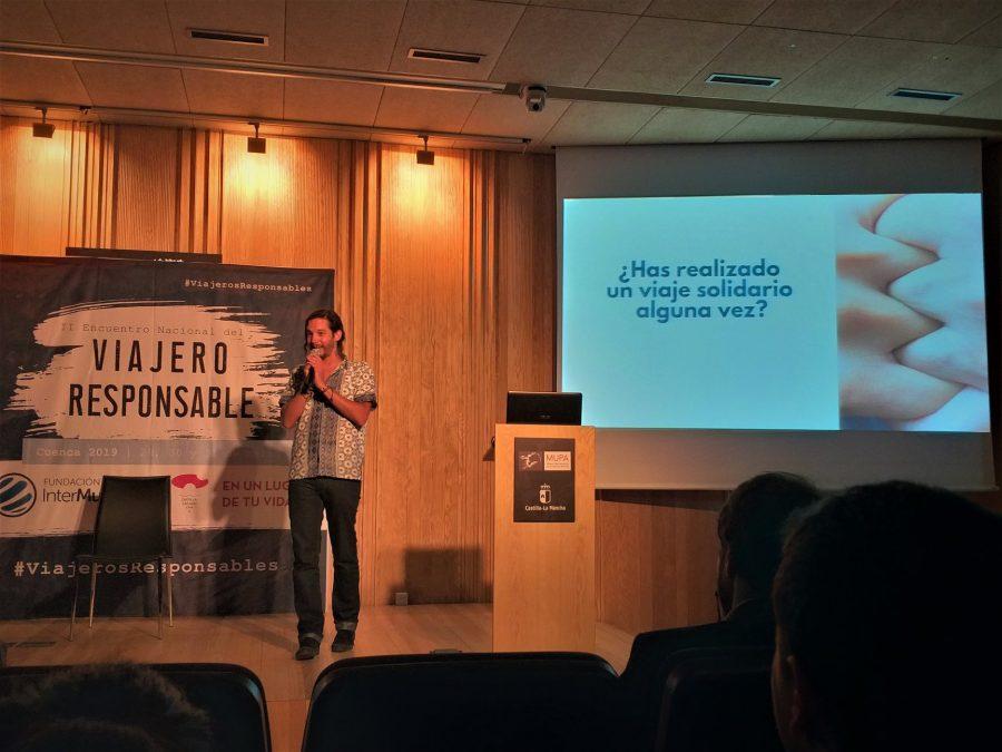 Javier Godinez en el encuentro del Viajero Responsable