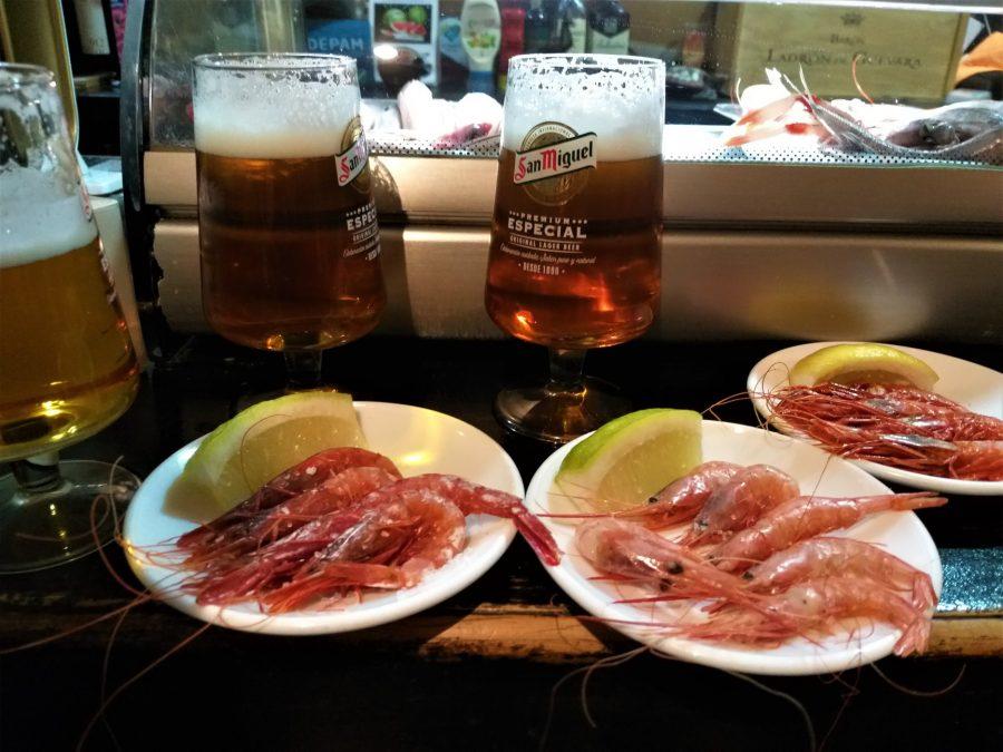 Gamba roja en El Bocaíto, bares de tapas en Almería