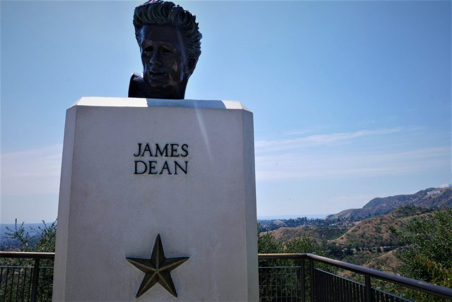 Busto de James Dean en el observatorio Griffith