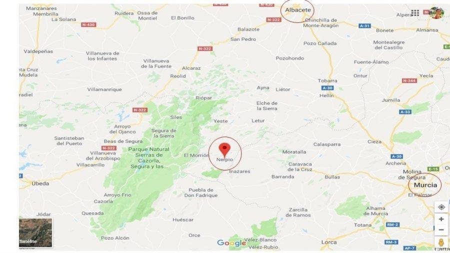 Mapa de Nerpio, Albacete