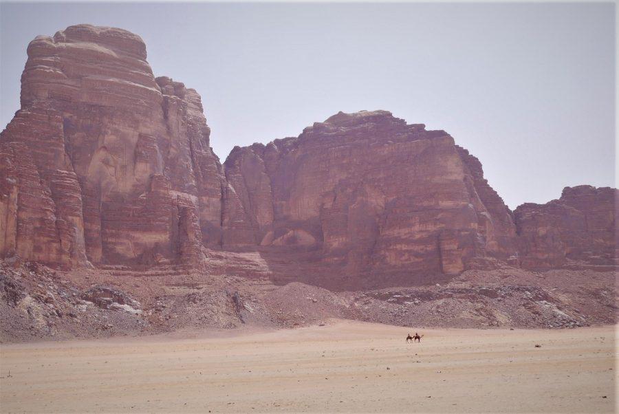 Paisaje del desierto de Wadi Rum Jordania