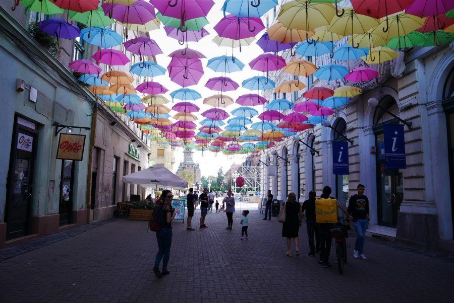 Calle de los paraguas de Timisoara