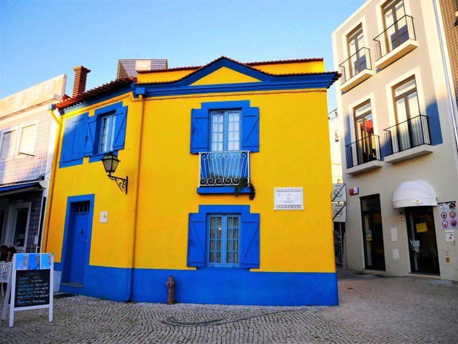 Casas del barrio de pescadores en Aveiro