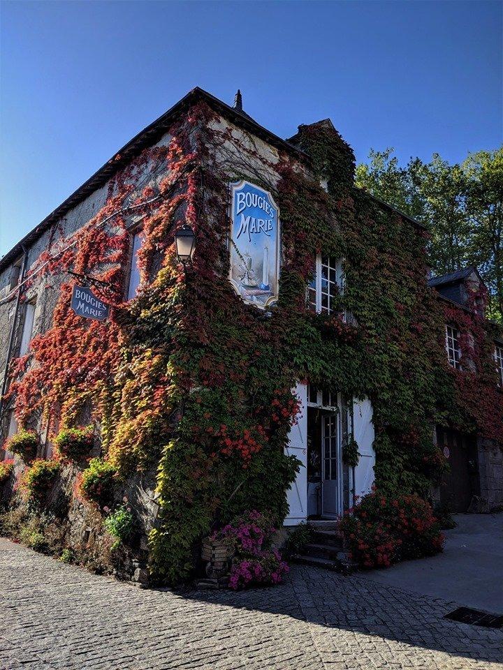 Casas floridas de Rochefort-en-Terre