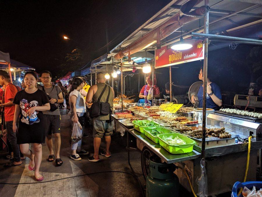 Mercado nocturno de Ayutthaya