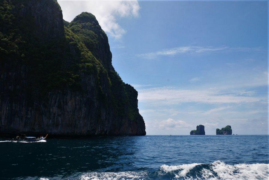 Las islas Phi Phi desde el ferry