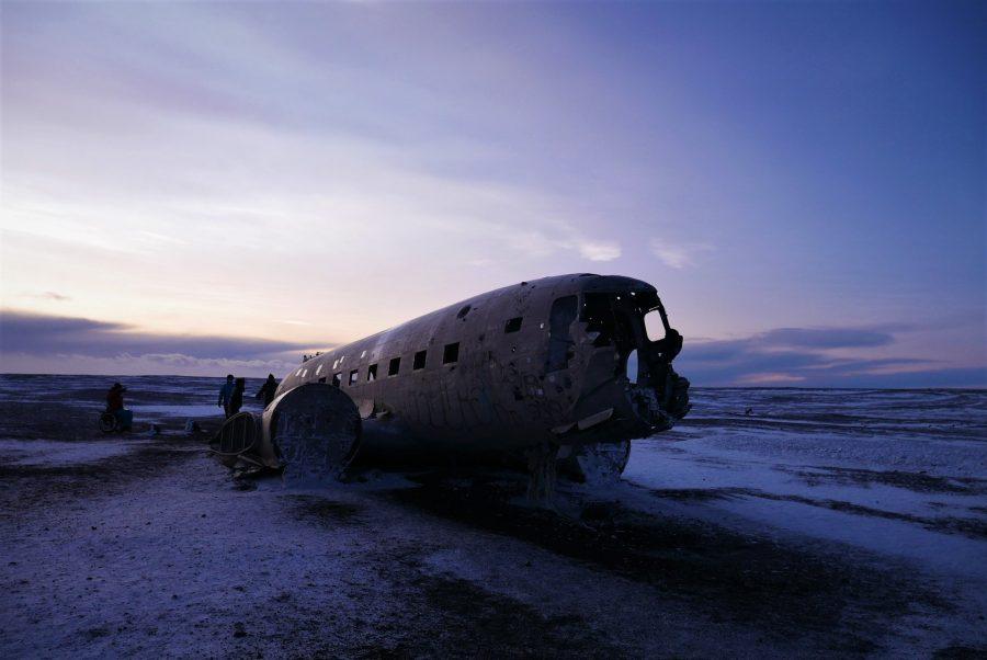 Avión estrellado de Islandia