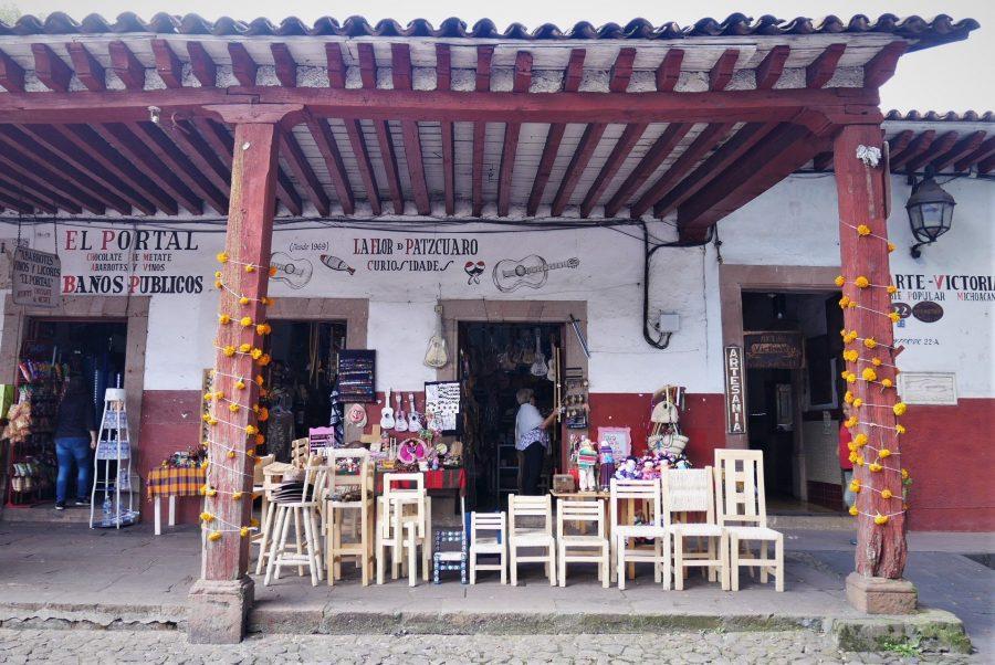 Calles de Patzcuaro, Michoacán