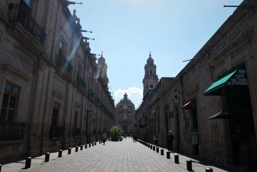 Calles del centro de Morelia en México